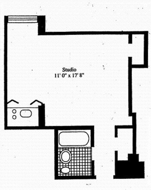floorplan for 5 Tudor City Place #B32