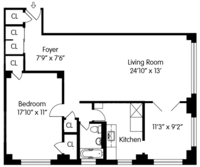 floorplan for 200 East 36th Street #13D