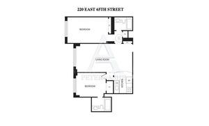 floorplan for 220 East 65th Street #24K