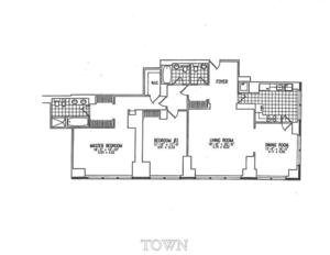 floorplan for 845 United Nations Plaza #62A