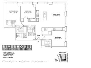 floorplan for 2 River Terrace