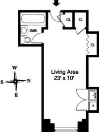 floorplan for 5 Tudor City Place #834