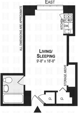 floorplan for 5 Tudor City Place #1129