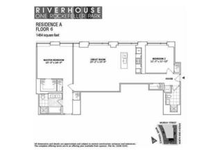 floorplan for 2 River Terrace #6A
