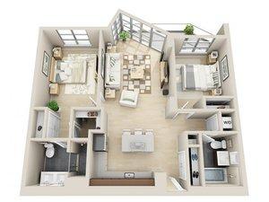 floorplan for 111 Kent Avenue #3E