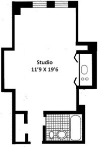 floorplan for 5 Tudor City Place #1303