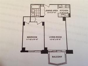 floorplan for 220 East 65th Street #22D