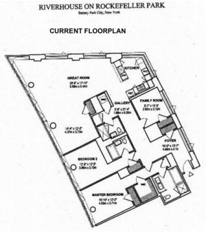 floorplan for 2 River Terrace #4R