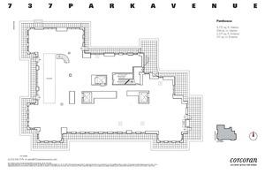 floorplan for 737 Park Avenue #PH