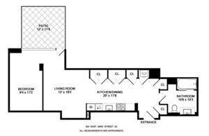 floorplan for 303 East 33rd Street #2C