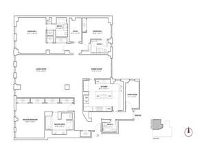 floorplan for 737 Park Avenue #11A