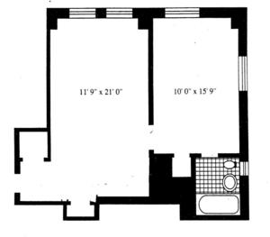 floorplan for 5 Tudor City Place #638