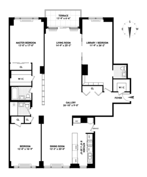 floorplan for 150 East 69th Street #20A