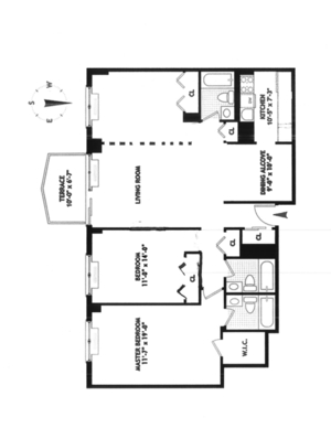 floorplan for 220 East 65th Street #9G