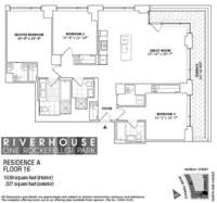 floorplan for 1 River Terrace #16A