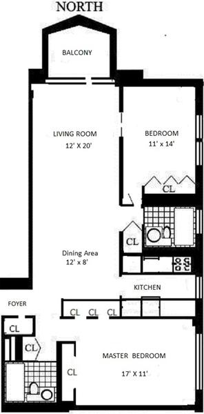 floorplan for 220 East 65th Street #24M