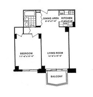 floorplan for 220 East 65th Street #5D