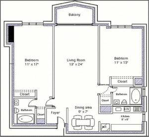 floorplan for 220 East 65th Street #23B