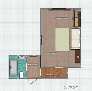 floorplan for 5 Tudor City Place #514