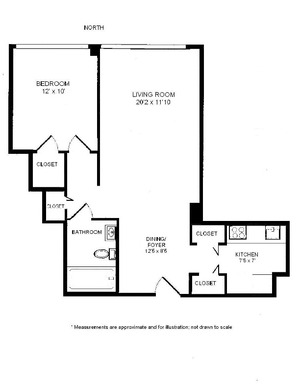 floorplan for 61 West 62nd Street #20A