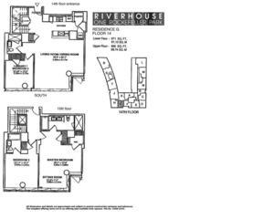 floorplan for 2 River Terrace #14G