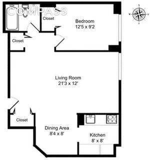 floorplan for 61 West 62nd Street #22N