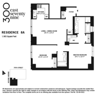 floorplan for 300 East 79th Street #8A
