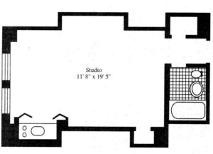 floorplan for 5 Tudor City Place #639