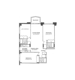 floorplan for 220 East 65th Street #19L