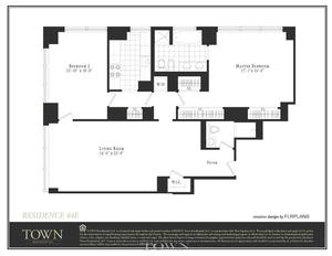 floorplan for 845 United Nations Plaza #63E
