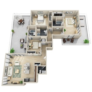 floorplan for 111 Kent Avenue #PHA