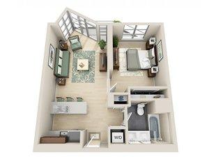 floorplan for 111 Kent Avenue #6R