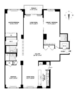 floorplan for 150 East 69th Street #20A