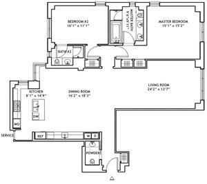 floorplan for 737 Park Avenue #7G