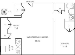 floorplan for 61 West 62nd Street #19N