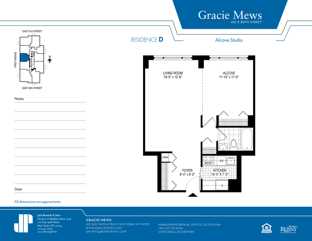Gracie Mews At 401 East 80th St In Yorkville Sales | Lobster House