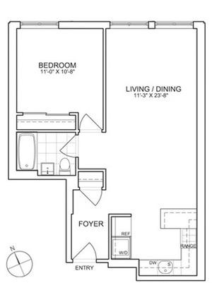 floorplan for 461 West 150th Street #2B
