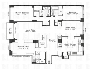 floorplan for 150 East 69th Street #20N