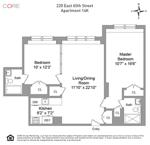 floorplan for 220 East 65th Street #14K