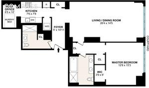 floorplan for 15 Central Park West #12H