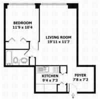 floorplan for 61 West 62nd Street #4B