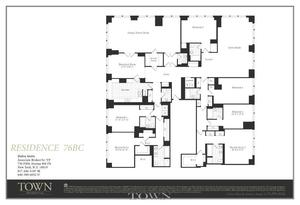 floorplan for 845 United Nations Plaza #76BC