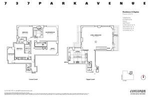floorplan for 737 Park Avenue #9/10G