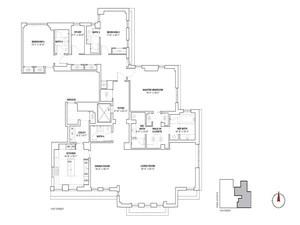 floorplan for 737 Park Avenue #20C