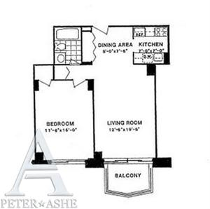floorplan for 220 East 65th Street #16