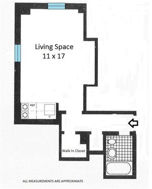 floorplan for 5 Tudor City Place #427