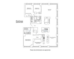 floorplan for 2 River Terrace #28A