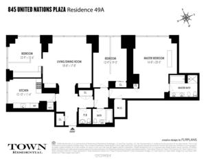 floorplan for 845 United Nations Plaza #49A