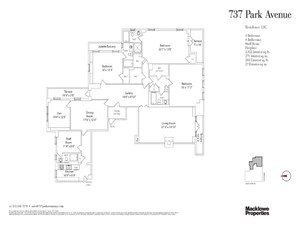 floorplan for 737 Park Avenue #18C