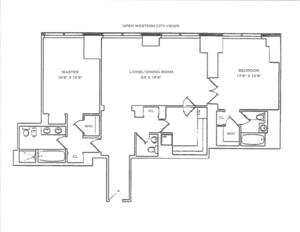floorplan for 845 United Nations Plaza #53D